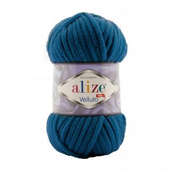 Alize Velluto / 100g - 68m / 646 Mykonos Blue