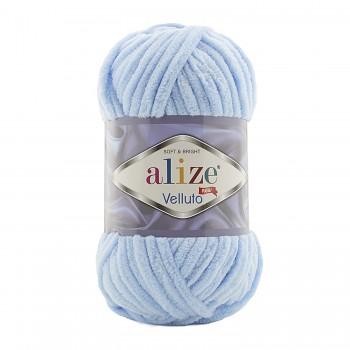 Alize Velluto / 100g - 68m / 218 Baby Blue