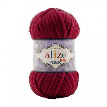 Alize Velluto / 100g - 68m / 107 Cherry