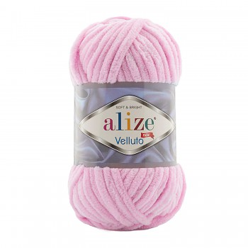 Alize Velluto / 100g - 68m / 31 Baby Pink