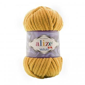 Alize Velluto / 100g - 68m / 02 Mustard