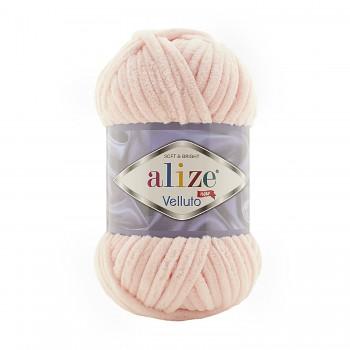 Alize Velluto / 100g - 68m / 340 Powder Pink