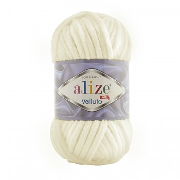Alize Velluto / 100g - 68m / 62 Light Cream