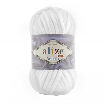 Alize Velluto / 100g - 68m / 55 White