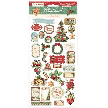 Chipboard 15x30cm Classic Christmas