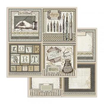 Scrapbookový papír / 12x12 / Calligraphy Cards