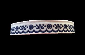 Stuha zúbková 20mm / 1m / modrá