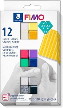 Fimo Effect sada 12 farieb 25g