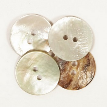 Pearl button white / 1,5cm / 1pc