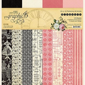 "Elegance 12x12"" Patterns & Solids Paper Pad / Sada papierov"