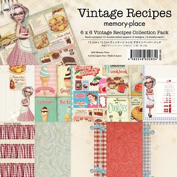 Vintage Recipes / 6x6 / 10ks / Sada papierov
