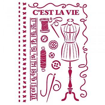 Šablóna / A4 / Romantic Threads Couture