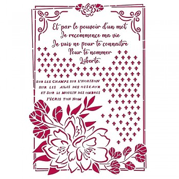 Szablon / A4 / Romantic Journal Flower with Frame