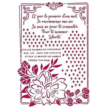 Šablóna / A4 / Romantic Journal Flower with Frame