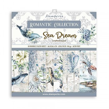 "Romantic Sea Dream / 12x12"" / Sada scrapbookových papierov"