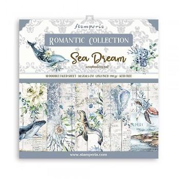 """Romantic Sea Dream / 12x12"""" / Sada scrapbookových papierov"""