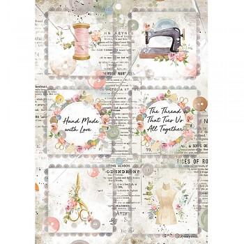Ryžový papier na decoupage A4 / Romantic Threads Mini Cards