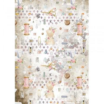 Ryžový papier na decoupage A4 / Romantic Threads Embellishment