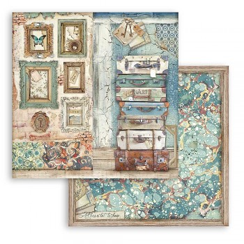 Scrapbooking paper / 12x12 / Atelier Luggage