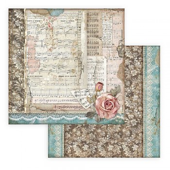 Scrapbookový papier / 12x12 / Passion Roses and Music