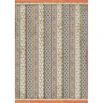 Rýžový papír na decoupage A3 / Amazonia Tribal Texture