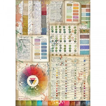 Ryžový papier na decoupage A4 / Atelier Pantone Charts