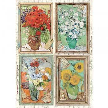 Ryžový papier na decoupage A4 / Atelier Van Gogh