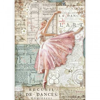 Papier ryżowy decoupage A4 / Passion Dancer