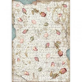 Ryžový papier na decoupage A4 / Passion Petals