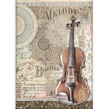 Ryžový papier na decoupage A4 / Passion Violin