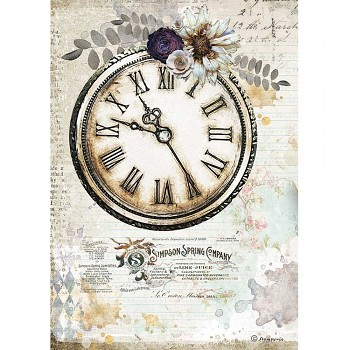 Papier ryżowy decoupage A4 / Romantic Journal Clock