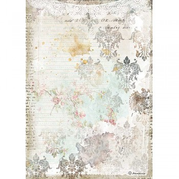 Papier ryżowy decoupage A4 / Romantic Journal Texture With Lace