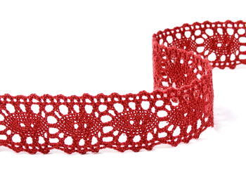 Cotton lace 32mm / red wine