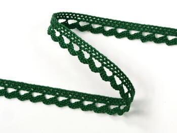 Paličkovaná čipka 10mm / tmavo zelená