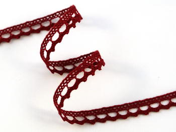 Lace ribbon 9mm / cranberry