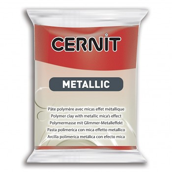 Cernit Metallic / 56g / red / 400
