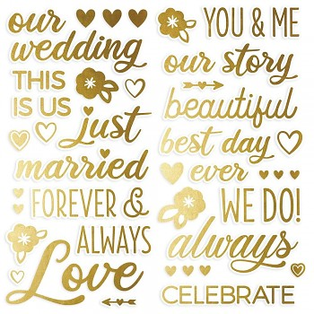 Happily Ever After Foam Stickers