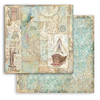Scrapbookový papier / 12x12 / Sleeping Beauty Cradle