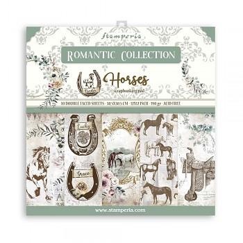 "Romantic Horses / 12x12"" / Sada scrapbookových papierov"