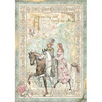 Ryžový papier na decoupage A4 / Sleeping Beauty Prince on Horse