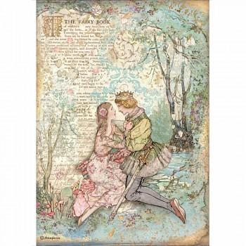 Ryžový papier na decoupage A4 / Sleeping Beauty Lovers