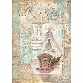 Ryžový papier na decoupage A4 / Sleeping Beauty Cradle