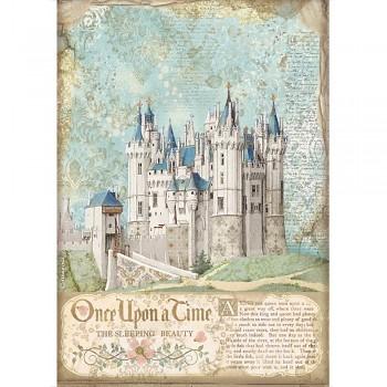 Ryžový papier na decoupage A4 / Sleeping Beauty Castle