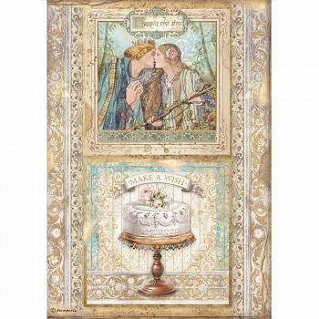 Ryžový papier na decoupage A4 / Sleeping Beauty Cake Frame