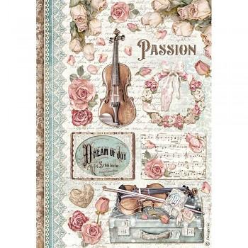 Ryžový papier na decoupage A4 / Passion Music