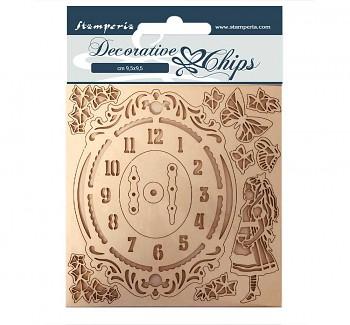 Wycinanki - Alice Clock / 9.5x9.5cm