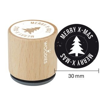 Wooden Stamp / MERRY X-MAS / 3cm