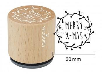 Drevené razítko / MERRY X-MAS / 3cm