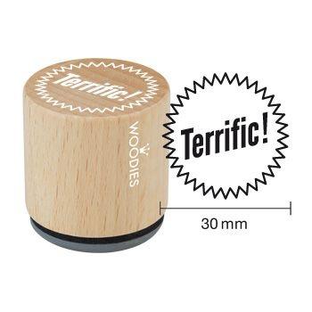 Drevené razítko / Terrific! / 3cm