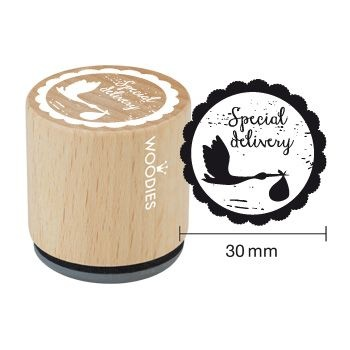 Wooden Stamp / Special delivery / 3cm